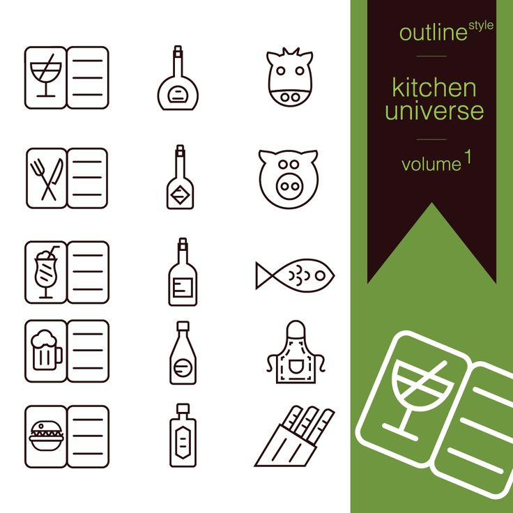 Kitchen universe volume 1 is a free vector set concept designed in a simple way so it can be used for multiple purposes i.e. logo ,mark ,symbol or icon.