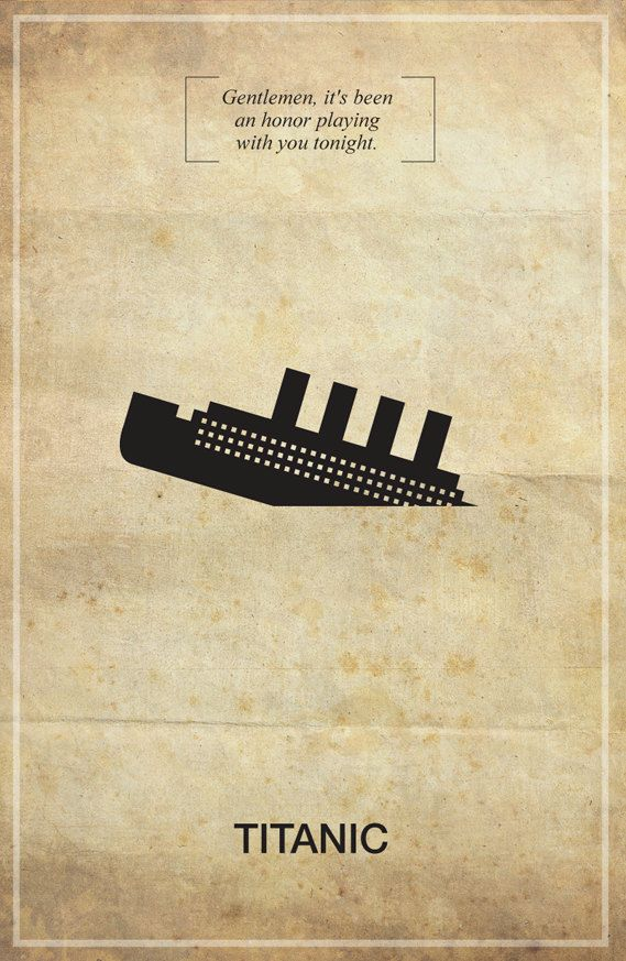 Titanic Memorable Quote Vintage 11X17 Poster by Posterinspired