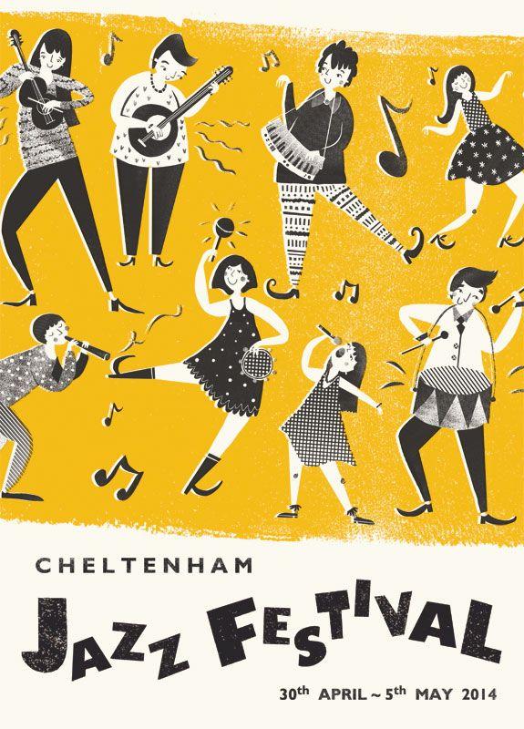 Cheltenham Jazz Festival 2014 Poster - Rachael Saunders