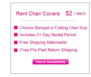 Rent Chair Covers Button