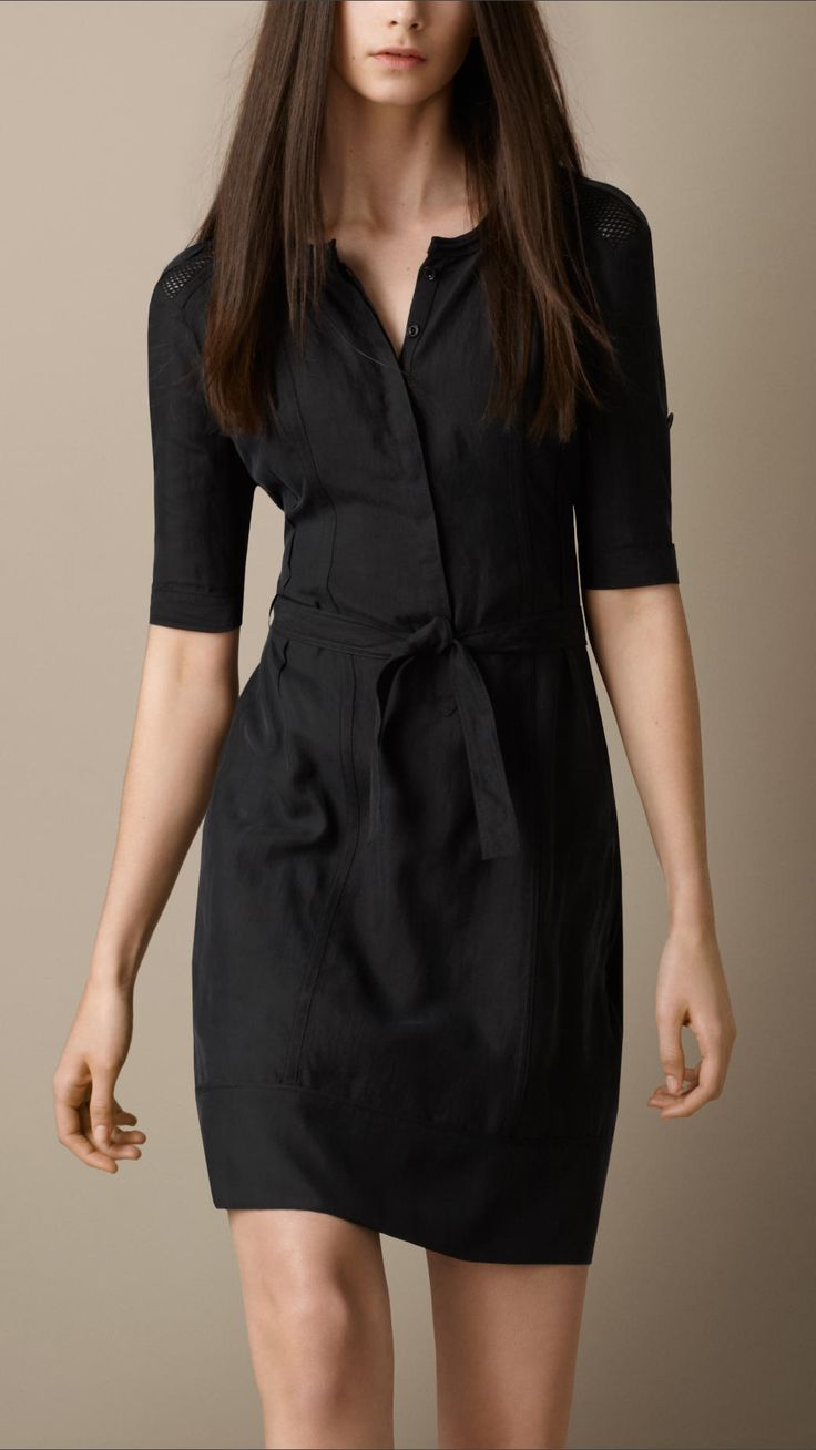 Silk Shirt Dress | Burberry