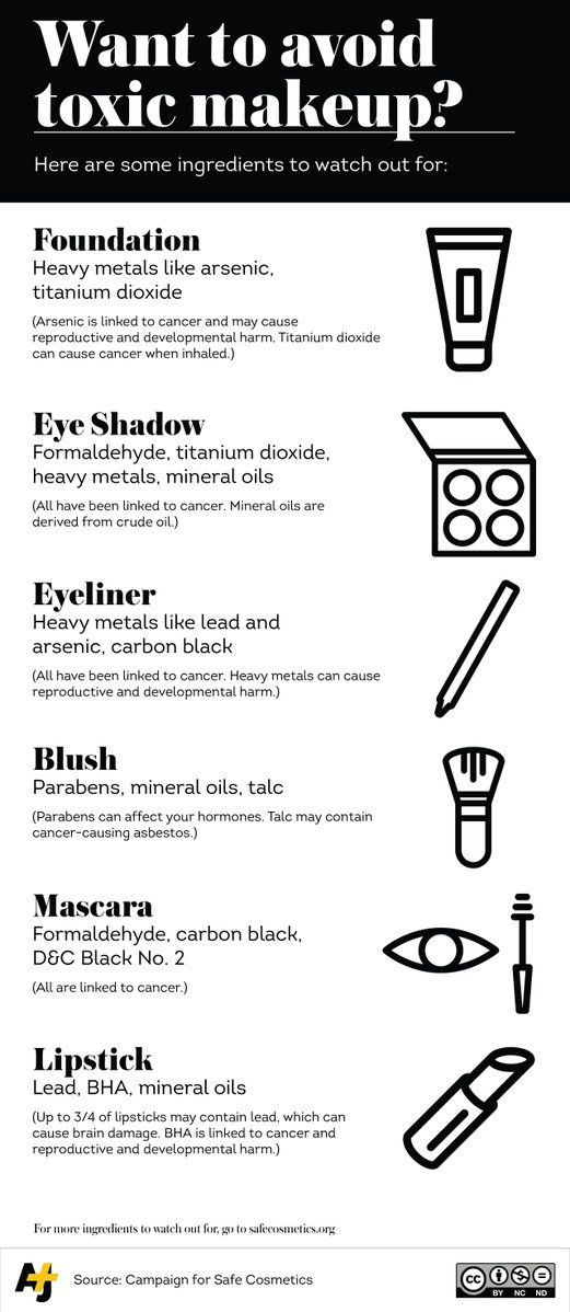 Want to avoid buying toxic makeup? This checklist may help: