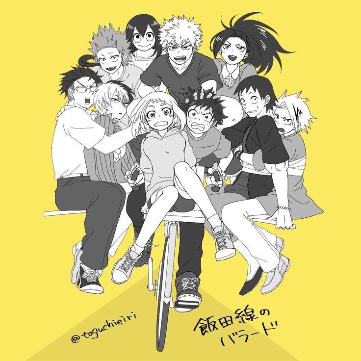 Bakugou Katsuki & Kirishima Eijirou & Todoroki Shouto & Midoriya Izuku & Kaminari Denki & Sero Hanta & Iida Tenya & Uraraka Ochako & Yaoyorozu Momo & Tsuyu Asui