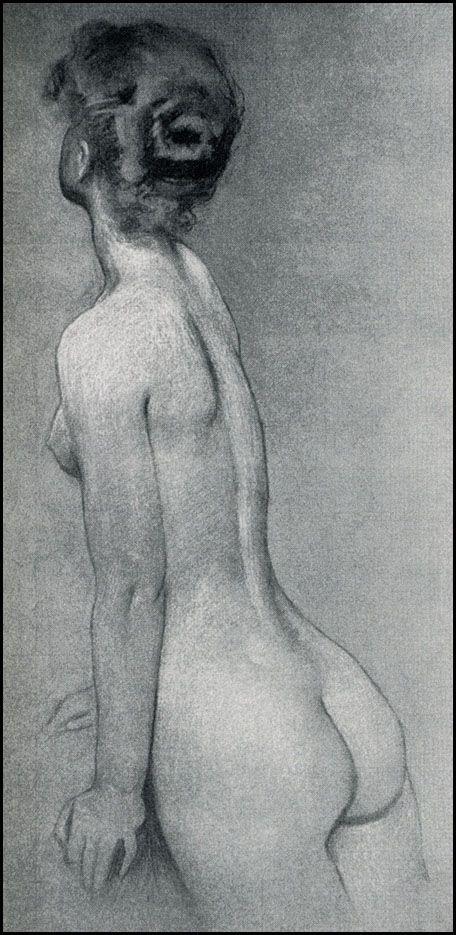 My Paree ( Pretty Melody ): Herbert Draper Figure Study - great shading join us http://pinterest.com/koztar