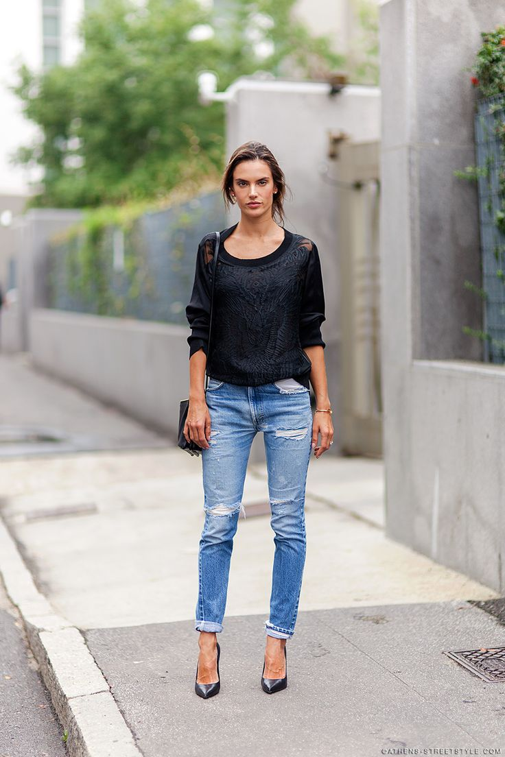 alessandra ambrosio mfw spring summer 2015 street style. Black Bedroom Furniture Sets. Home Design Ideas