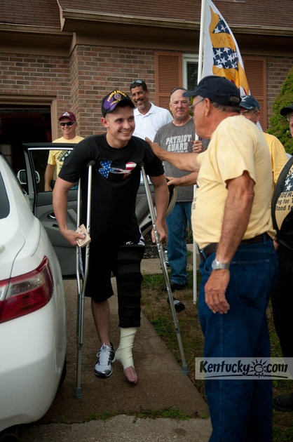 Photo Gallery: Kentucky soldier welcomed home by Patriot Guard Riders: Photos Galleries, Photo Galleries