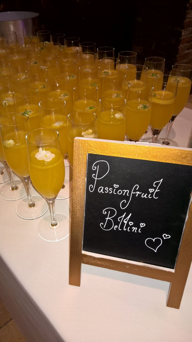 A delicious Passion fruit Bellini  @GGWeddings