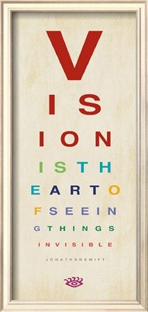 Vision is the art of seeing #Eye #Chart