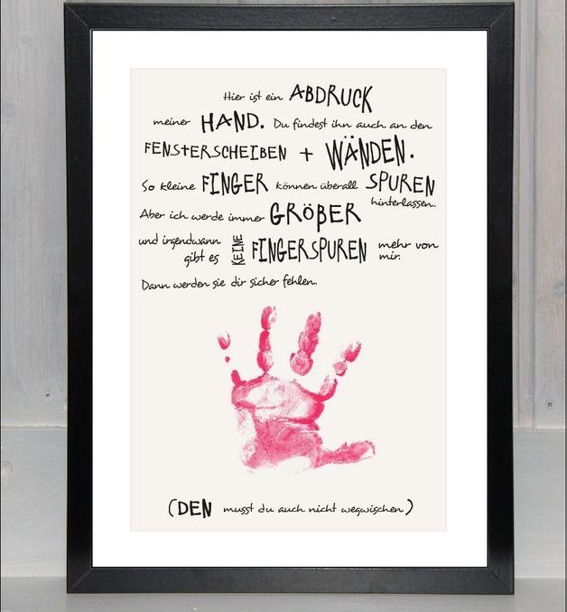 """Handabdruck - Baby, Kind: """"Meine Hand für dich"""""""