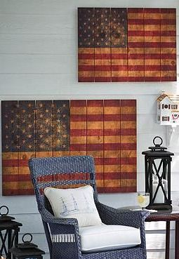 This 4th of July, give your outdoor space patriotic spirit with the Rustic Flag Wall Decor; a handsome twist on a classic icon, available in two sizes.