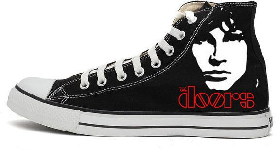 The Doors Jim Morrison hand-painted converse shoes by RahulMistry ...