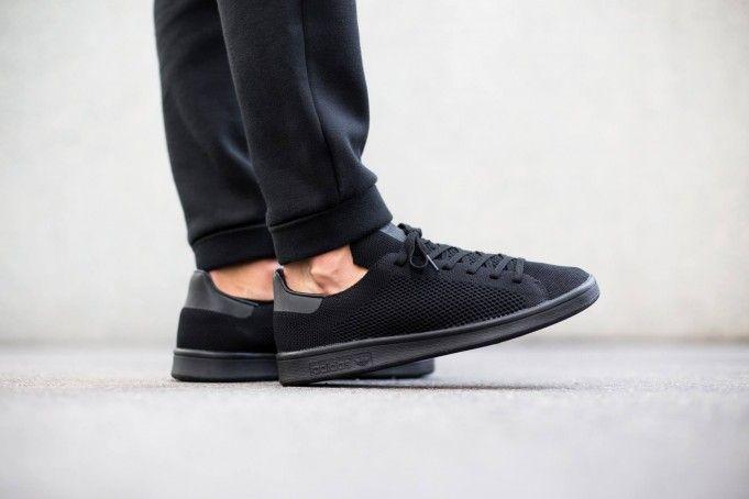 All-Black For the adidas Originals Stan Smith Primeknit ...