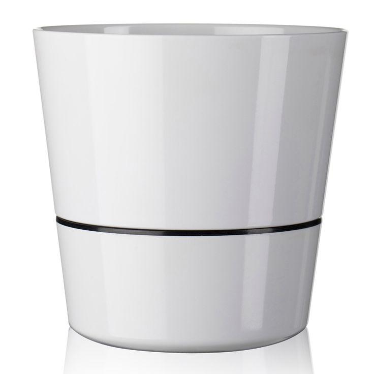 Rosti Self-watering herb pot Large, White, Rosti