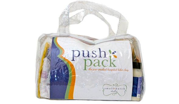 "Annie, a first-time mom said """"I was given the Push Pack by a friend … I was so happy to have it during my hospital stay. Everything I needed (including several things I never would have thought of) was included. As a first time mom I really appreciated it!"""