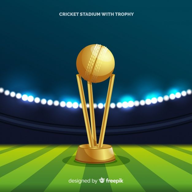Download Cricket Stadium Background With Golden Cup For Free Trophy Design Vector Free Background