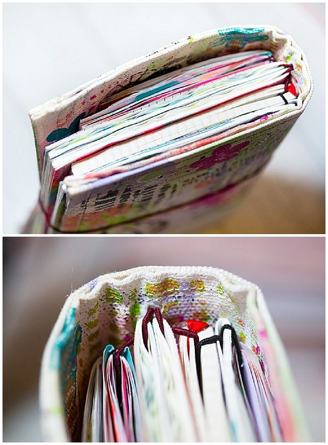 DIY HoboDori - Hobonichi  Midori Travelers Notebook Style Planner crossover - Artjournal and daily Sketchbook