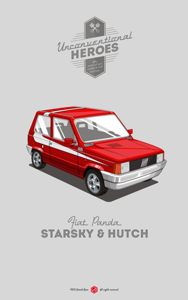 Unconventional Heroes | Illustrator: Gerald Bear #fiat #starskyandhutch