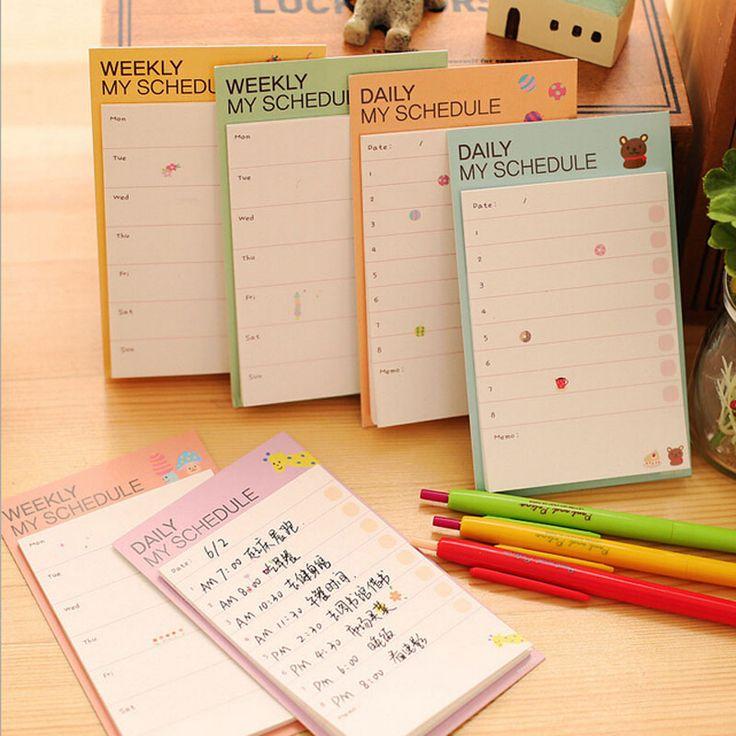 Aliexpress.com: Comprar 2 unids/lote horario libreta mi diario semanal calendario Memo Pad palo Post It Bookmark Memo Pad Sticky Notes Agenda de pad lavadora fiable proveedores en Happy Seller
