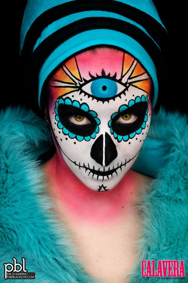 A PBLovized version of the mexicans sugar skulls.  ~ Model: Erica Francese  www.pureblacklove.com
