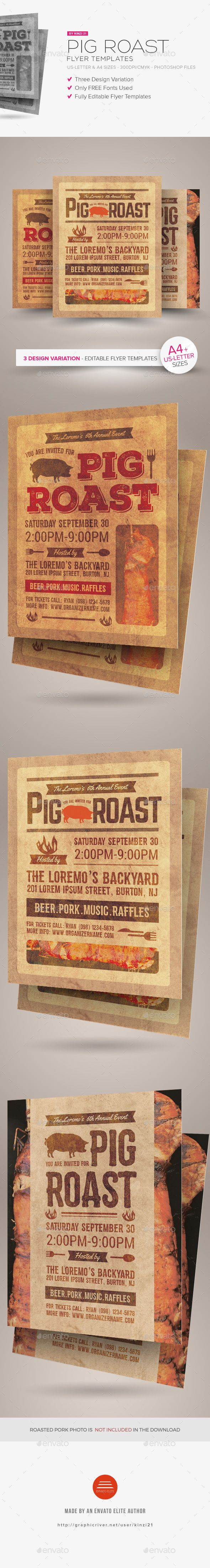 pig roast flyer templates flyer template pigs and the o u0027jays