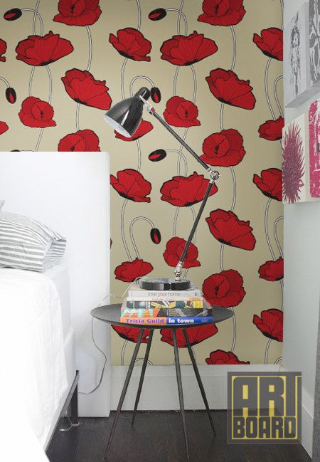 Retro Poppy Pattern Self Adhesive Diy Wallpaper Home Decor Peel N Stick 20 9 X8 39 G043