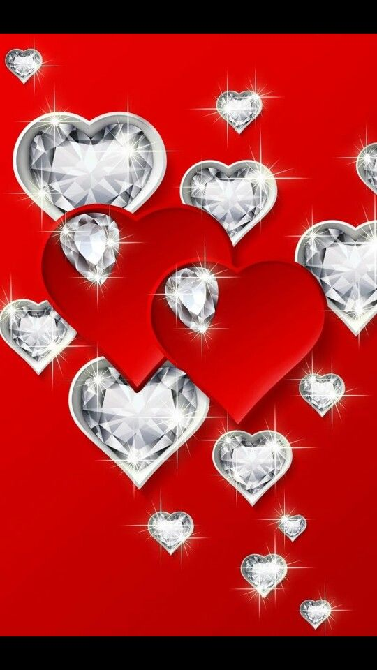Live Wallpapers Iphone Diamond Heart Ipod Hello Kitty Hearts Ipods Backgrounds Find This Pin And More On I Love You