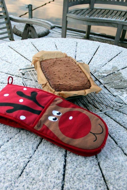 Rudolph the Red-Nosed Reindeer. Deze dubbele ovenwant heb ik gekocht bij Primark in Hoofddorp, heerlijk om mee te werken!