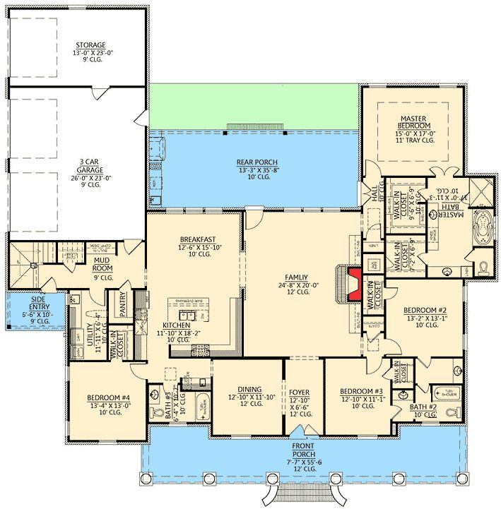 Plan 56337sm Graceful 4 Bedroom Acadian Home Plan Bonus