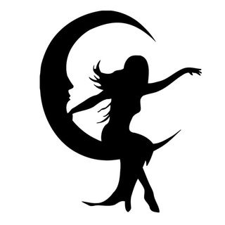 Girl Sitting on Moon Vinyl Wall Decal | Overstock™ Shopping - The Best Prices on Vinyl Wall Art