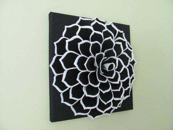 Felt Flower Wall Art Pattern SOPHIA FLOWER Fabric от SewYouCanToo