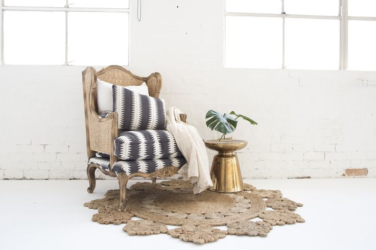 Marigold Rug & Rattan Chair
