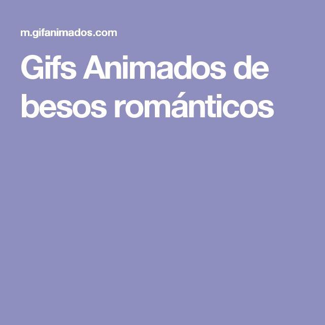 Gifs Animados de besos románticos