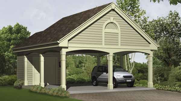 I like the design the posts and the storage above and for Garage with carport plans