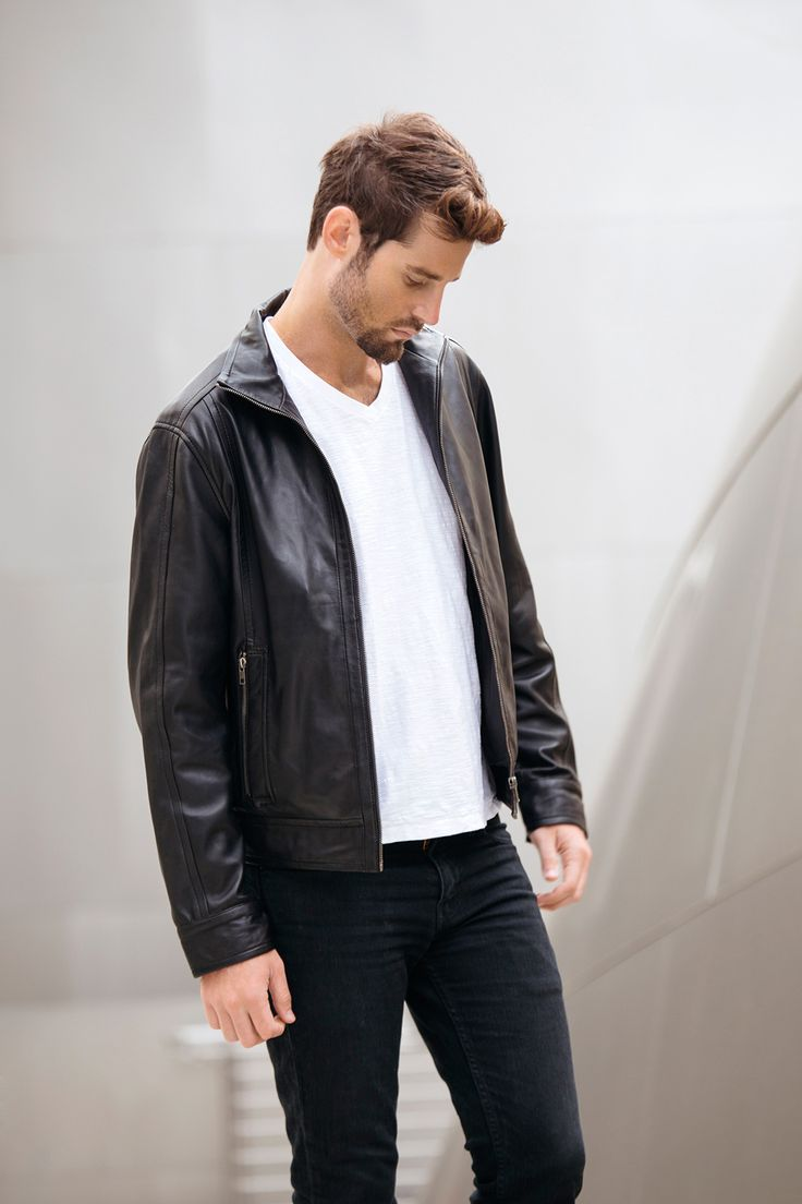 Mens Black Leather Motorcycle Jacket - Mens Designer Leather Jackets