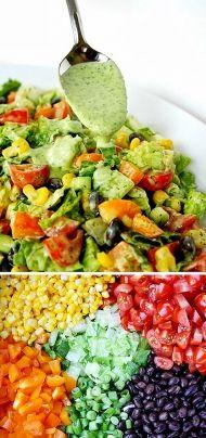 Sytý zahradnický salát s fazolemi