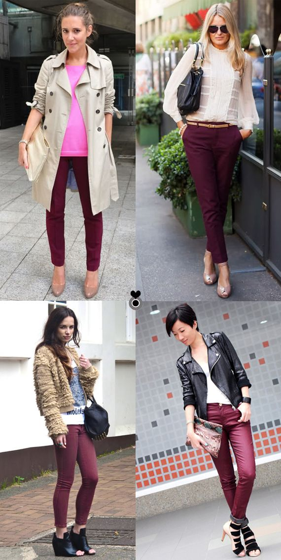 loft in soho: Burgundy pants - could use more of these pants... Even though I just bought some