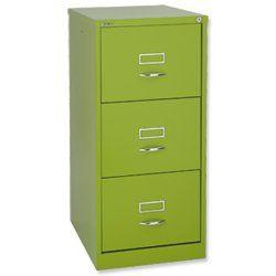 Bisley Glo Green 3 door filing cabinet