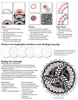 Zentangle7 Example page for Instructions