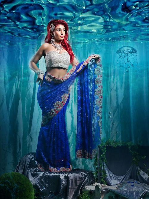Noivas Indianas x Princesas da Disney - Ariel