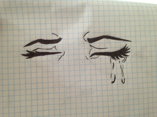 drawing art Black and White eyes hipster indie Grunge cry