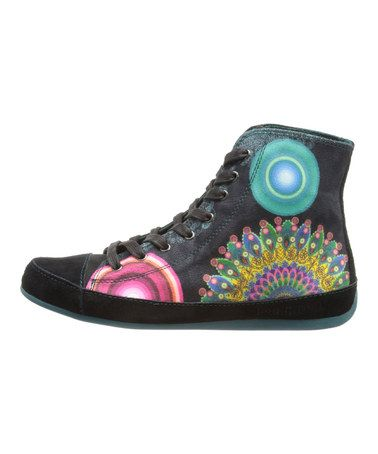 Loving this Black Peacock Hi-Top Sneaker on #zulily! #zulilyfinds