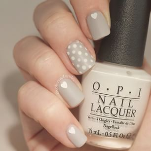 Heart and polka dots on a flat neutral