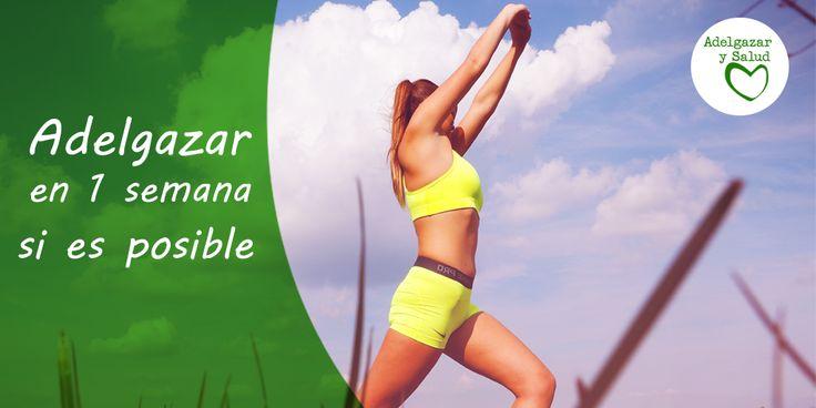 Los mejores trucos para adelgazar en una semana ¡Sigue leyendo! #Dietas #Rapidas #Fitness #Vida #Sana #Tips #Salud