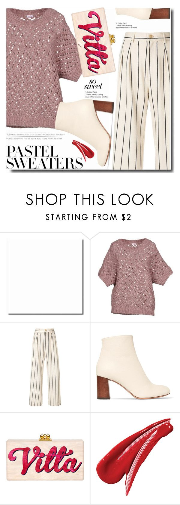"""""""Pastel Sweaters"""" by soks on Polyvore featuring Rossopuro, Erika Cavallini Semi-Couture, Chloé and pastelsweaters"""