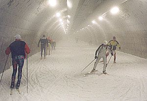 skiing tunnel ••• hiihtotunneli ••• Sotkamo Finland ••• (underground skiing tunnel, you can ski year round)