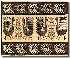 A carpet from Isili, Sardegna, Sardinia