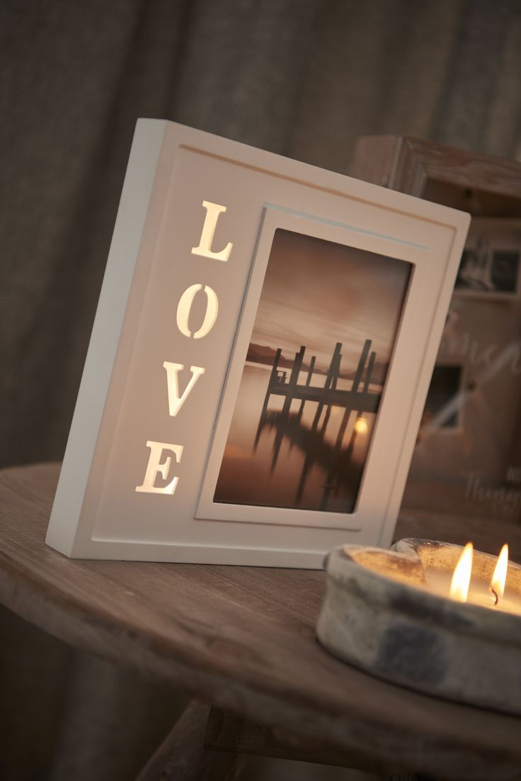 Brighten up any space in your home with our beautiful love light-up photo frame! With a space for an image of your choice and the word LOVE lit up down the side, this photo frame will add a gorgeous feature to your home.