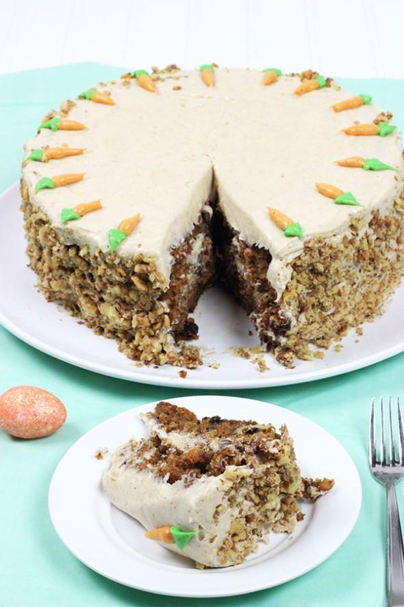 Carrot Cake with Brown Sugar Cream Cheese Frosting | RecipeLion.com