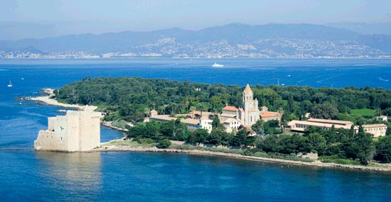 Les Iles de Lérins en face de Cannes, Côte d'Azur France