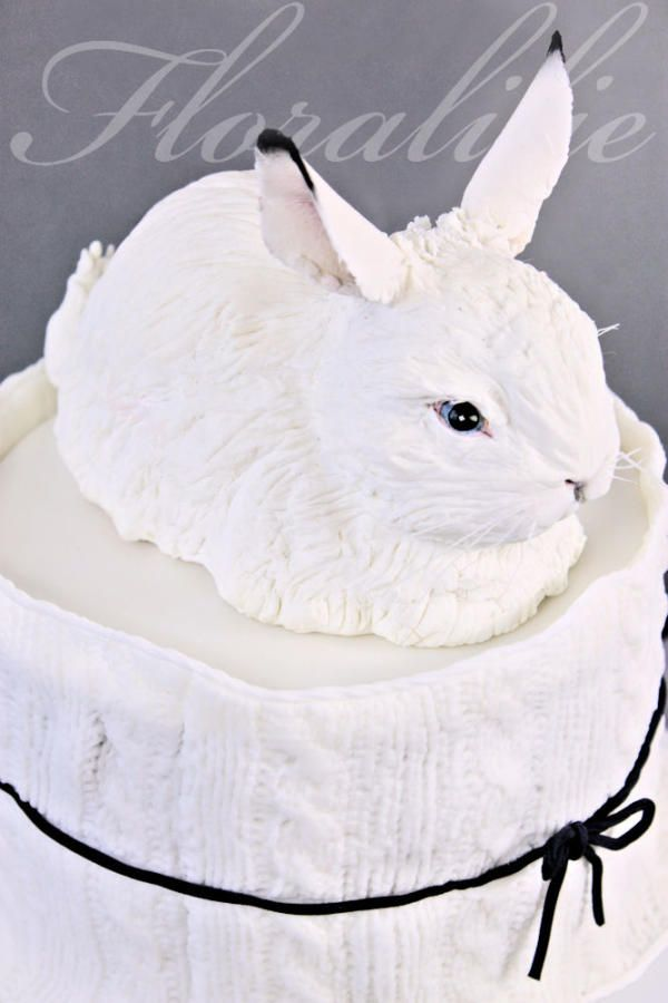 Snow Hare Cake - Cake by Floralilie                                                                                                                                                                                 More